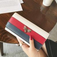FOJIURETY ブランド 本革 ロング 財布 蜂 財布 レディース 革財布 高級 女性 三色バッグ  クイーンマーガレット オマージュ
