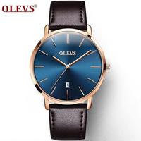 8カラー展開 OLEVS メンズ腕時計 ウルトラシン 6.5mm極薄タイプ 防水 高品質ラグジュアリーウォッチ シンプル ビジネス