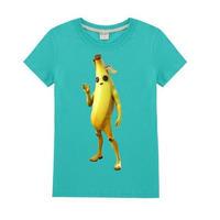 フォートナイト fortnite 子供服  バナナスキン ピーリーTシャツ ユニセックス カジュアル半袖Tシャツ トップス 10色展開 バトルロワイヤル   グリーン