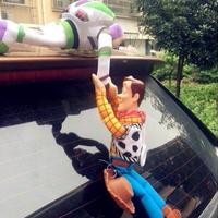 大人気 トイストーリー Toy Story ウッディー& バズ Woody&Buzz フィギュア 人形 ステッカー 車 カー アクセサリー ぬいぐるみ  約30cm