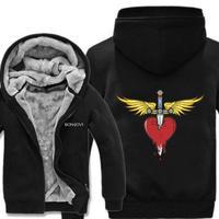高品質  ボンジョビ Bon Jovi   あったかい フリースパーカー ジップアップ  衣装 コスチューム 小道具 海外限定  コスプレ  2