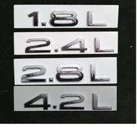 アウディ ステッカー エンブレム ABS TFSI 1.8L 2.4L 2.8L 4.2L リア ボディ 装飾 h00324