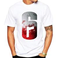 レインボーシックス シージ  ロゴデザイン  Tシャツ  半袖   Tom Clancy's Rainbow Six Siege R6S シージグッズ 5