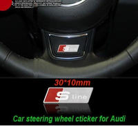アウディ ドアハンドル バッジ ステッカー ステンレス ステアリング 車内装飾 Audi A3 A5 A4L A6L A7 Q3 Q5 Q7 TT RS h00368