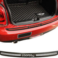 ミニクーパー ステッカー リアバンパー 5Dカーボンファイバービニール デカール R56 R57 h00167