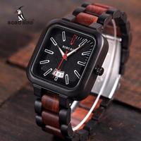 ボボバード【BOBO BIRD】メンズ 木製腕時計 スクエア型【自然に優しい天然木】