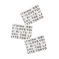 THE LATTE TOKYO|LOVE LABEL STICKER SET
