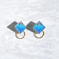 RITUAL the crafts | Square Hoop I earring | turquoise