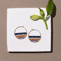 Kui Co.  Signature Earrings ラグーン