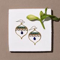 Kui Co.  Signature Earrings with ラピスラズリ