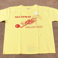 "Cushman ""ALCATRAZ BEACH CLUB"" S/S TEE(イエロー) size L"