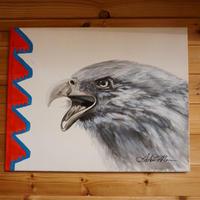 Antonio Mace Eagle oil painting