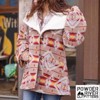 Powder River Outfitters Ladies Jacquard Aztec Wool Cape Coat
