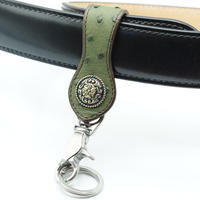 FUNNY Loop key holder Ostrich(Forest Green) 21mm