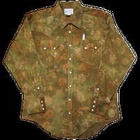 ROCK MOUNT L/S Western shirt(グリーン) sizeL