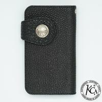 KC,s Hand phone case Himeji black leather(ブラック)