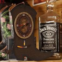 The Prairie Schooner Metal Boots Wall Clock
