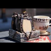 The Prairie Schooner Coaster 4set(Horse shoe)