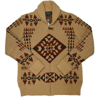PENDLETON Basket Maker F/Z cardigan(Tan)