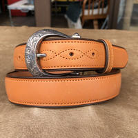 FUNNY Western Bridle leather Belt  size 32