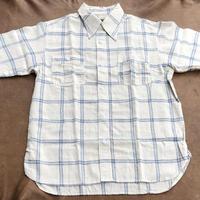 Cushman S/S Cotton linen check work shirt(ホワイト) size L