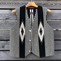CENTINELA CHIMAYO vest (36.ブラック&ホワイトストライプ)
