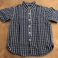Cushman S/S Cotton linen check work shirt(ネイビー)