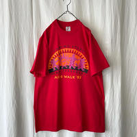 """Deadstock 1995 """" TEAM STARBUCKS """" AIDS WALK ′95 T-Shirts made in usa"""