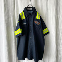 """"""" CINTAS """" """" OKLAHOMA TIRE RECYCLER """" S/S Work Shirts with Reflector"""