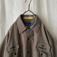 """ CINTAS "" "" BIG DADDY′S "" S/S Brown Check Work Shirts"