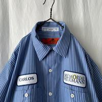 """ RED KAP "" "" MEMORIAL HARMONY "" S/S Striped Work Shirts"