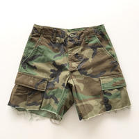 Woodland Camouflage Military  Cut-off Shorts