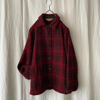 50′s Wool Check Shirts Jacket