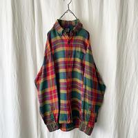 "90′s "" GAP "" Linen 100 Check Shirts"