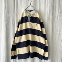 """90′s """" Polo Ralph Lauren """" Band-Collared Border Pullover Shirts"""