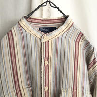 """"""" Polo by Ralph Lauren """" Cotton×Ramie Band-Collar Striped Shirts"""