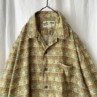 "90′s "" KoKo Island "" S/S Cotton Open Collar Shirts"