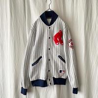 "90′s "" FELCO "" REDSOX MLB Sweat Snap Jacket made in usa"