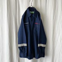 """"""" RED KAP """" """" FMC Technologies """" Cotton L/S 刺繍 Work Shirts with Reflector"""