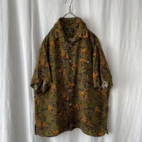 """▪️ 80's Deadstock """" GILLIO """" Cupro """" Open Collar Shirts made in usa ▪️"""