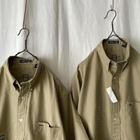 "90′s N.O.S "" GANT "" Washer Poplin S/S B.D. Shirts size M"