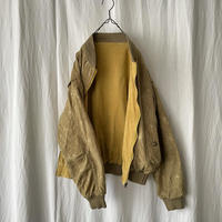 80-90′s Silk × Corduroy Reversible Zip-up Jacket