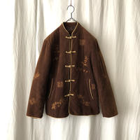 70-80′s 中綿入り 刺繍 Corduroy Chaina Jacket