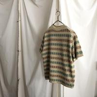"70's "" TOWNCRAFT "" Jacquard Border T-Shirts"