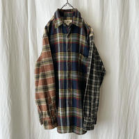 "90′s ""J.CREW "" Crazy Cotton Flannel Check Shirts"