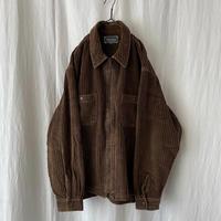 "▪️ "" PREFAB "" Brown 太畝 Corduroy Zip-up Box Shirts  ▪️"