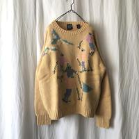 "1989 "" GAP "" Wool Hand Knit"