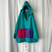 80-90′s Design Half Zip Sweat Parka