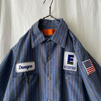 """ RED KAP "" ENTERPRISE "" S/S Striped Work Shirts"