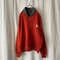 "90′s "" CHAPS by Ralph Lauren "" 刺繍 Shawl Collar Sweat Shirts"